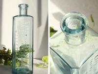 イギリスアンティーク 古いガラス瓶/ボトル/一輪差し/花瓶/花器(a0400031-20)