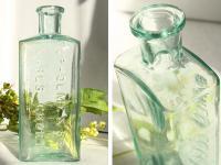 イギリスアンティーク 古いガラス瓶/ボトル/一輪差し/花瓶/花器(a0400031-22)