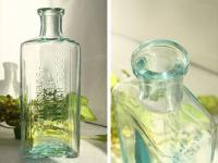 イギリスアンティーク 古いガラス瓶/ボトル/一輪差し/花瓶/花器(a0400031-26)