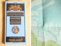 イギリス(英国)アンティーク◇レトロな古地図/MAP/FENLAND地方(a0100098-8)