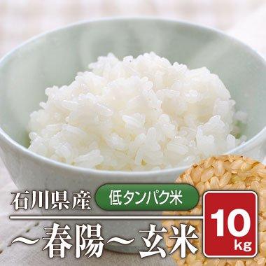 【送料無料】石川県産  「低タンパク米」 春陽(28年産) 10kg【玄米】[通販商品]