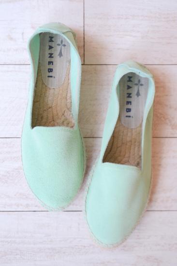 MANEBI suede green color espadrille