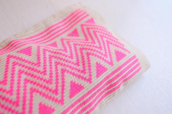 GUANABANA Pink desing clutch