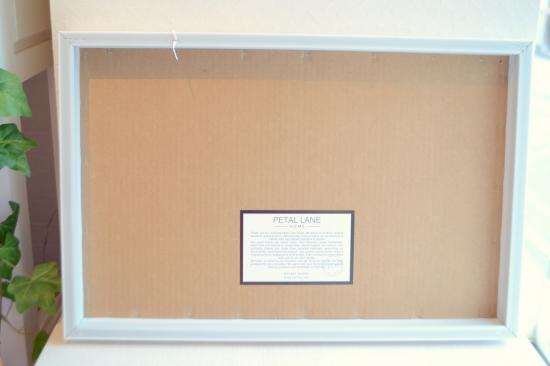 PETAL LANE magnet board  rectangle white frame