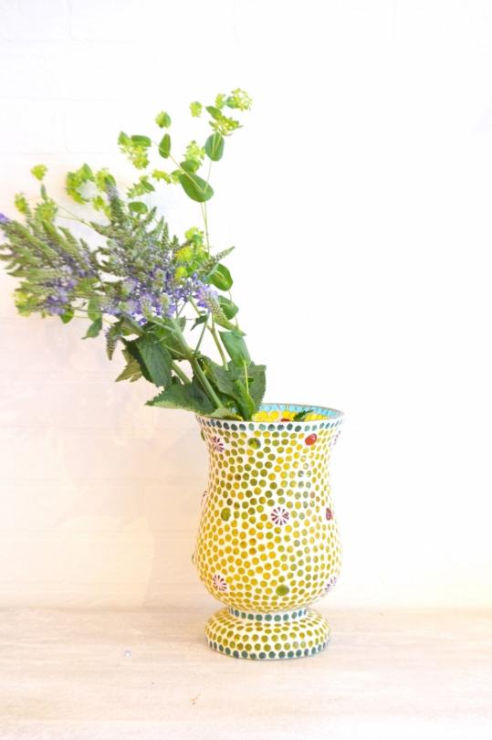 Two's tile motif vase