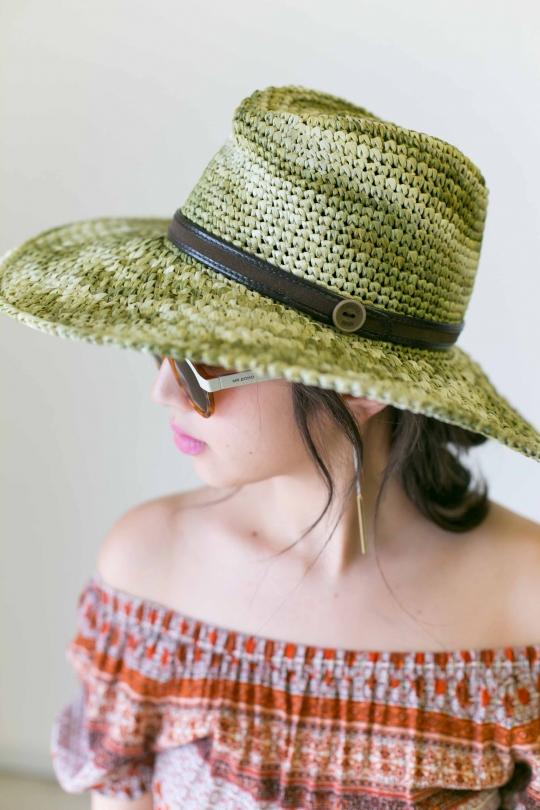 CATARZI Button mix color Hat