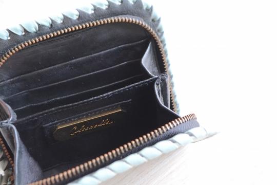 Cleobella lime green leather wallet