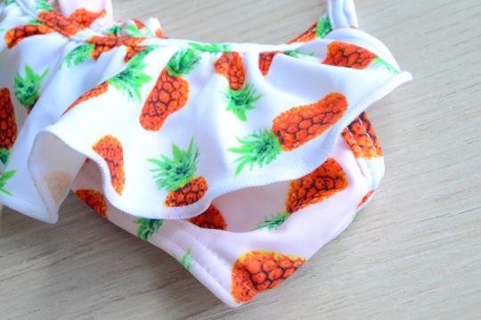 SUBMARINE pineapple design kids swim wear