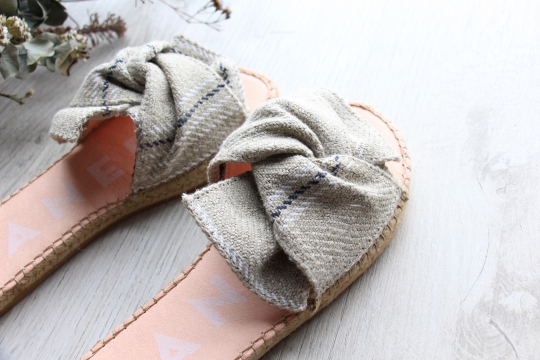 MANEBI flat sandals with bow