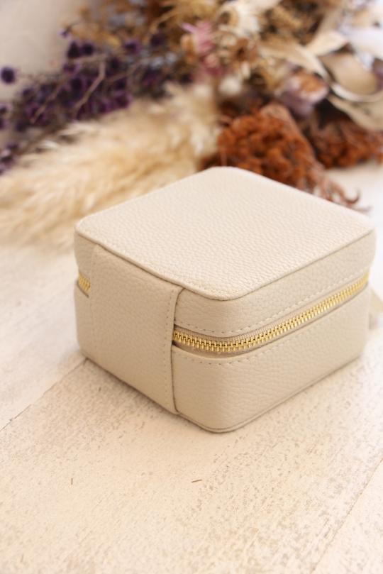 SHIRALEAH square beige Jewelry BOX