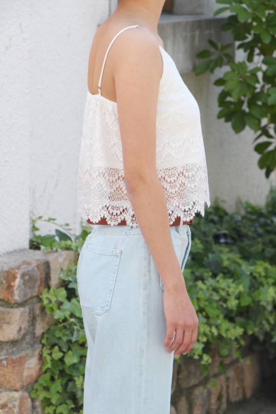 LaLaLei white lace bustier
