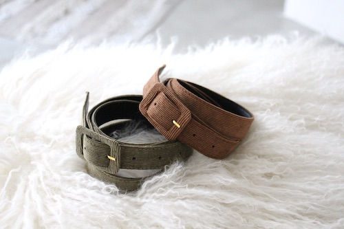 Joia corduroy belt