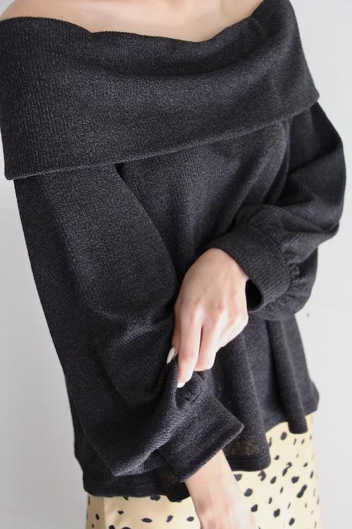 LUSH black off-shoulder TOPS