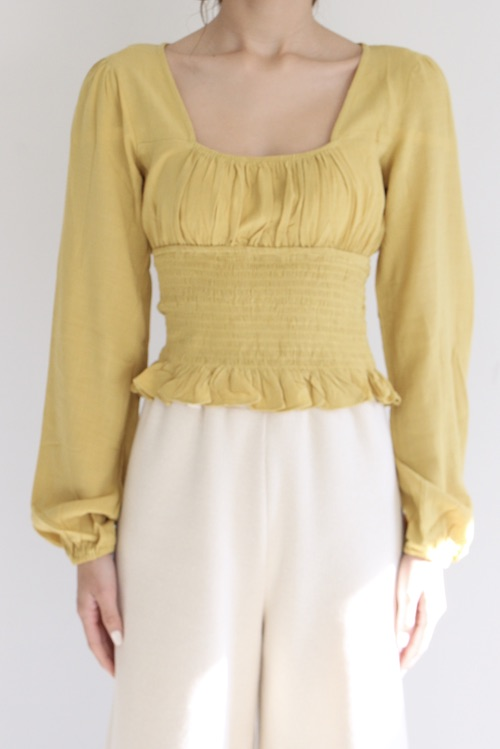 skylar+madison yellow tops