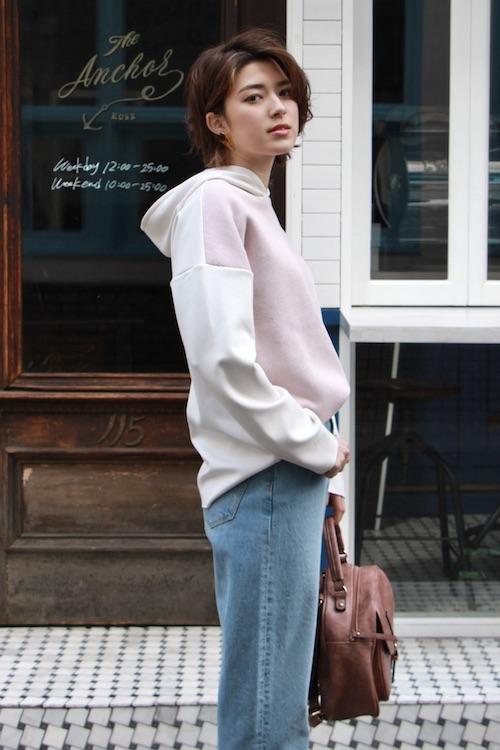 LaLaLei hoodie parker pink TOPS