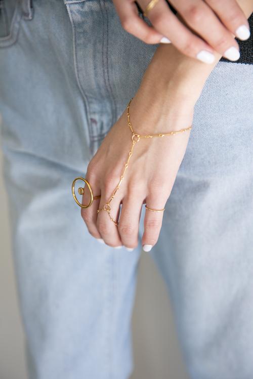 RueBelle chain finger bracelet