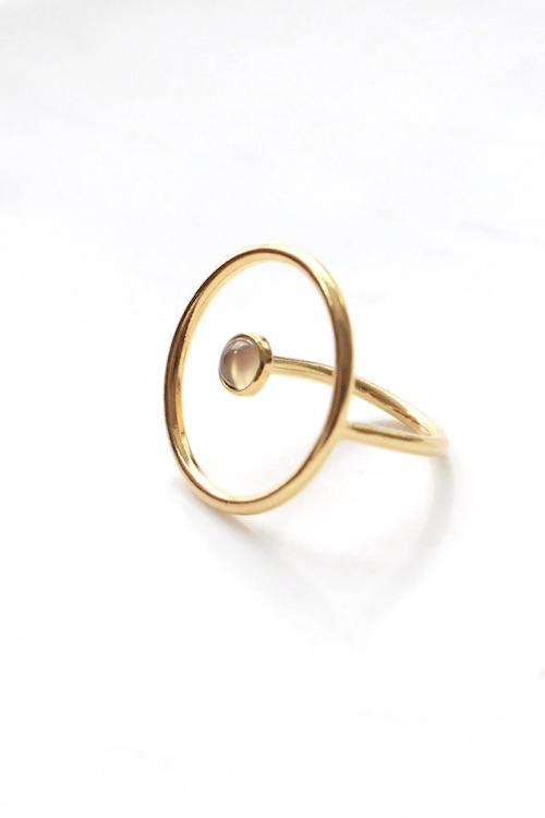 Jorge morales moonstone hoop ring