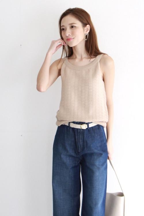 mila.vert   Summer knit  beige camisole