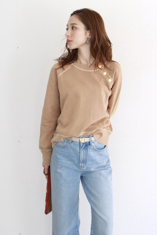 Leon&Harper Camel sweat tops