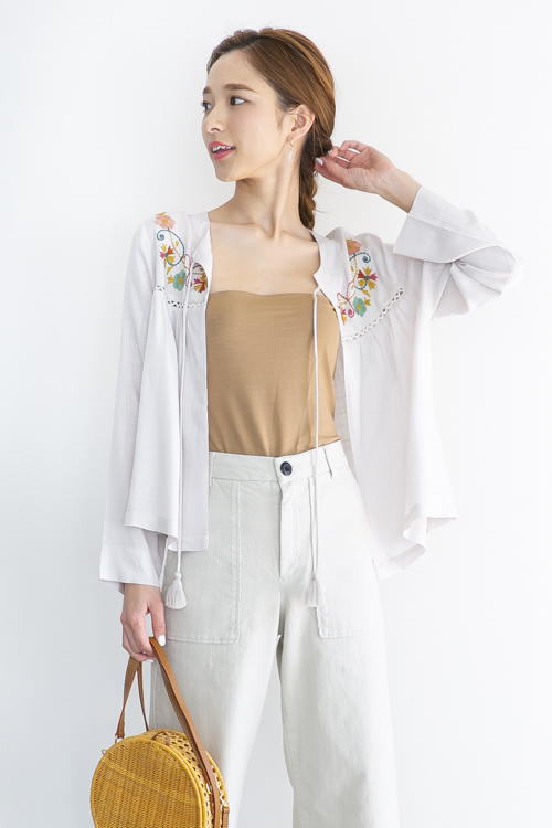 indi&cold front embroidery TOPS