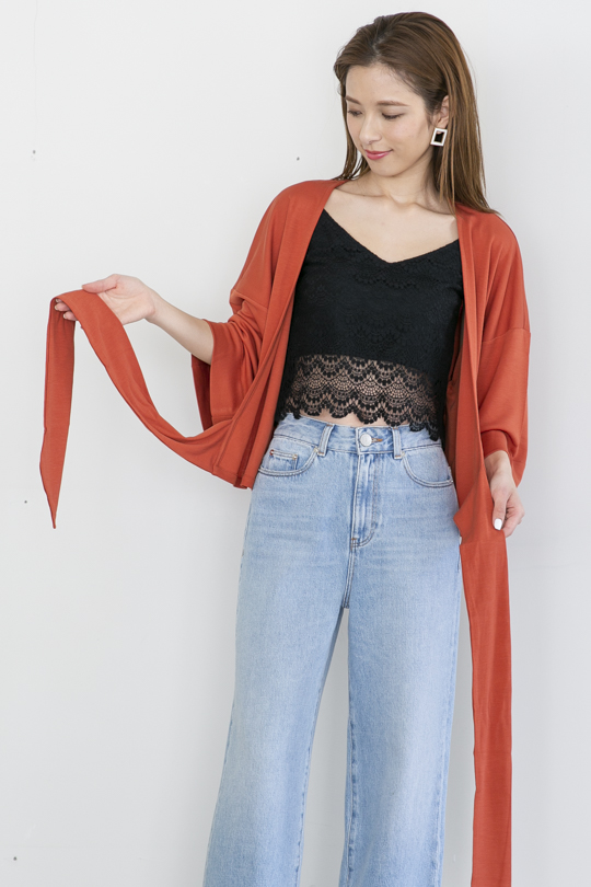 JAN 'N JUNE front ribbon orange TOPS