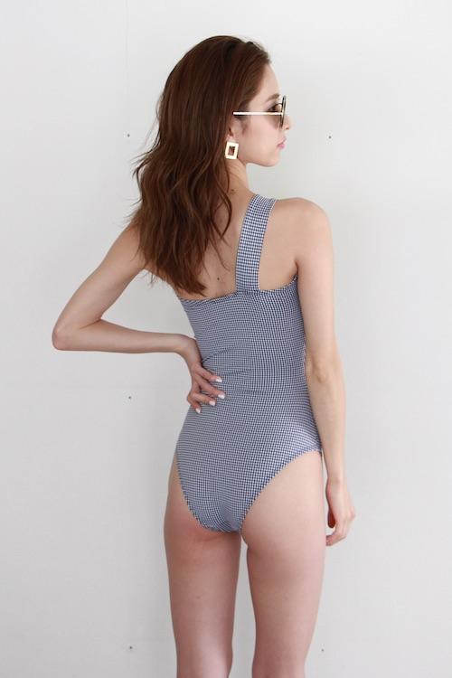 RITA ROW gingham check one shoulder  bikini