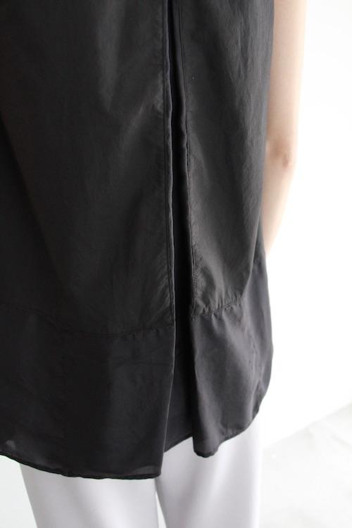 roberto collina black pleats sleeveless TOPS