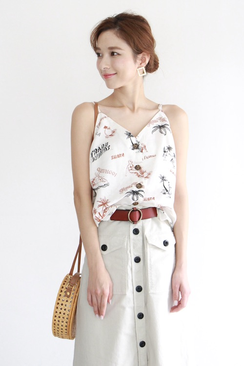 back beat surf summer camisole TOPS