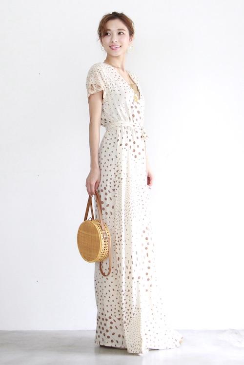 YIREH beige cashour dress