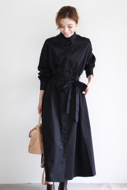 RITA ROW black shirt dress