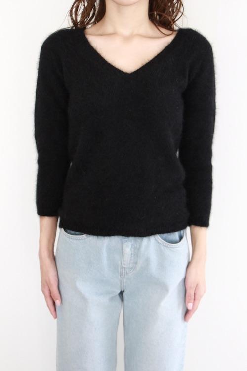 roberto collina 2way shaggy black knit