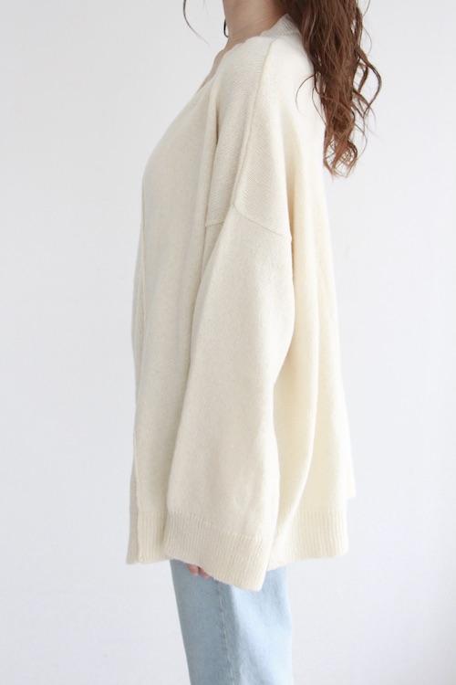 MONICA CORDERA white Vneck knit