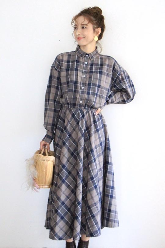 Skall plaid shirt dress