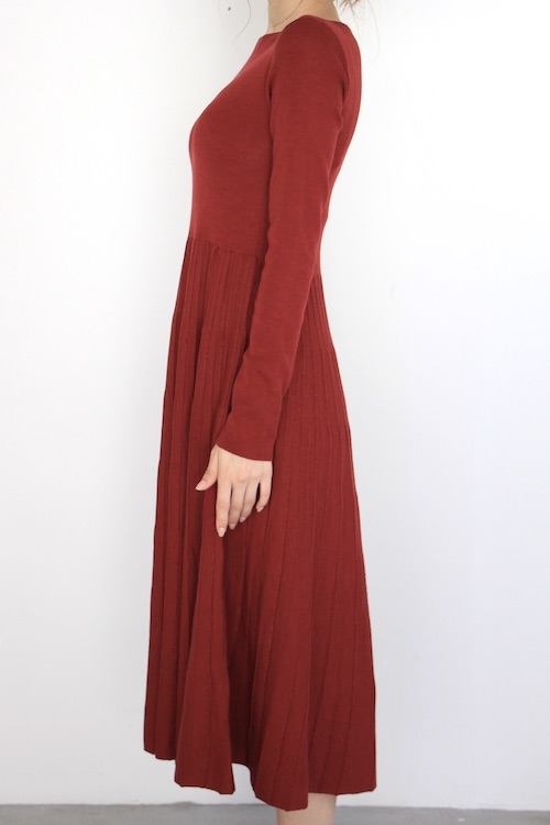 roberto colline flare red knit dress
