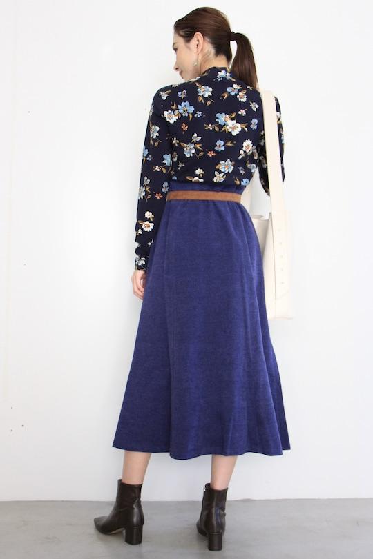 Lana Navy flare skirt
