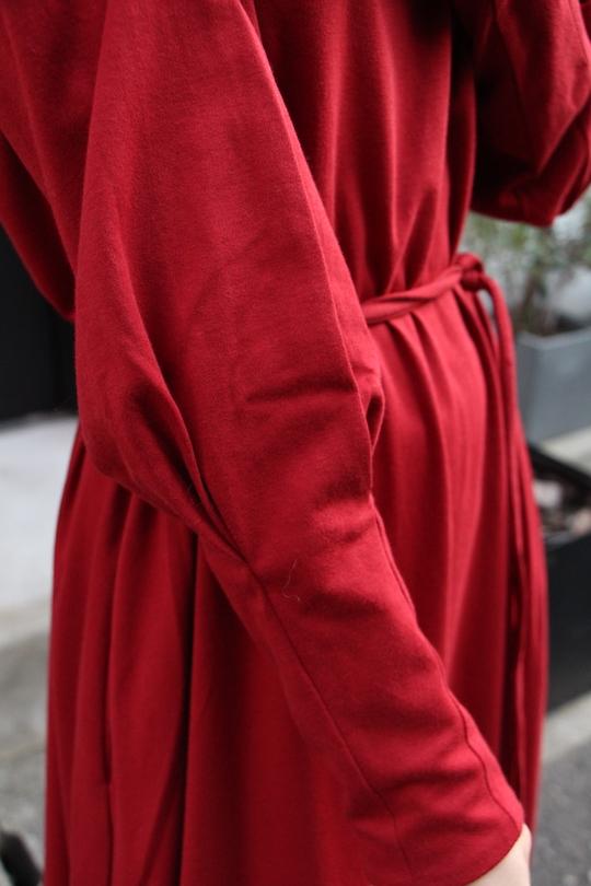 Lana high neck Red flare dress