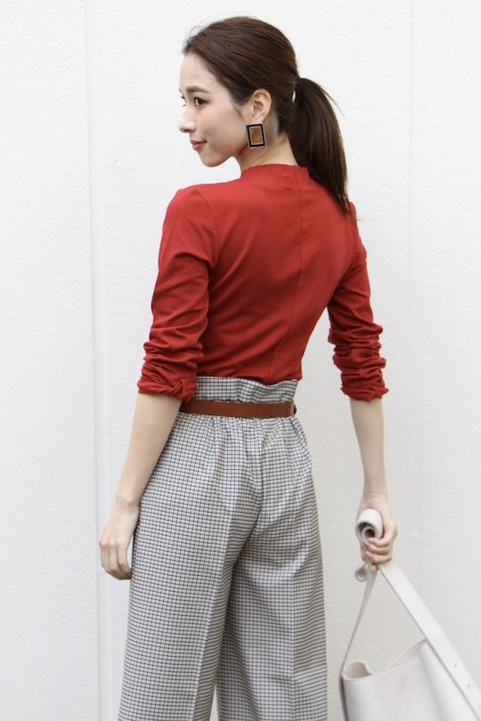 Lana ribbon Red tie  tops