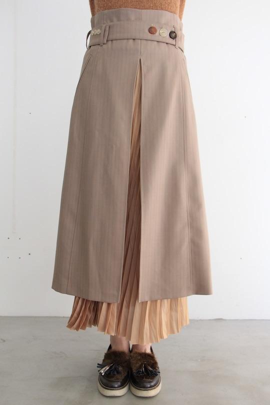 ALYSI asymmetry pleats skirt