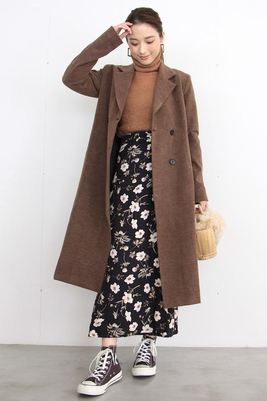 Lana Brown chester long coat