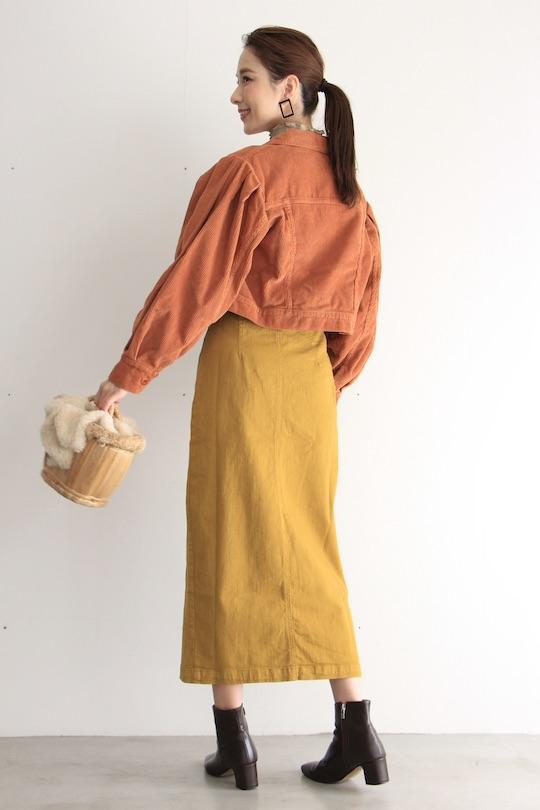 RITA ROW Yellow Denim skirt