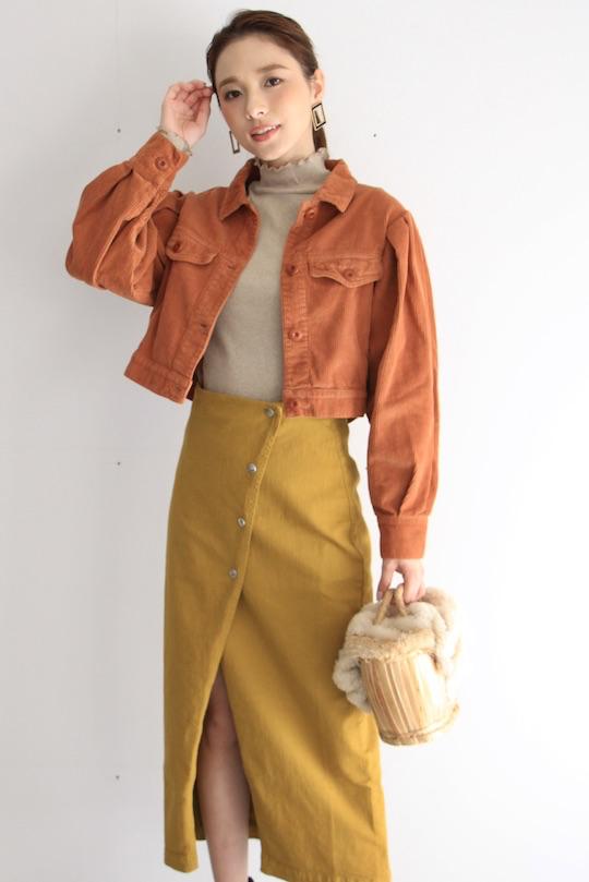 RITA ROW Brown corduroy short jacket