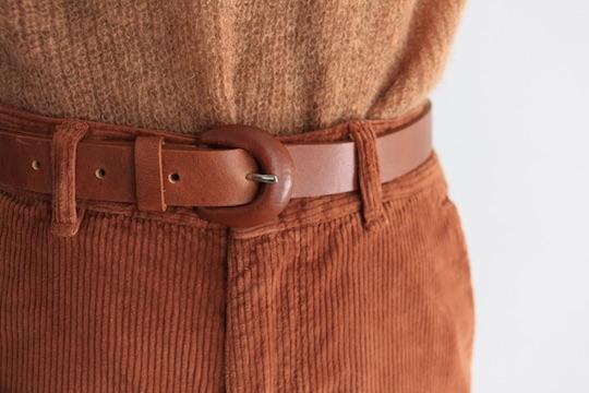 RITA ROW leather brown belt