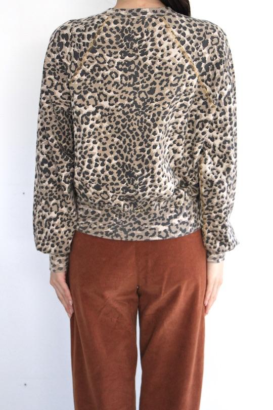Leon&Harper leopard sweat TOPS