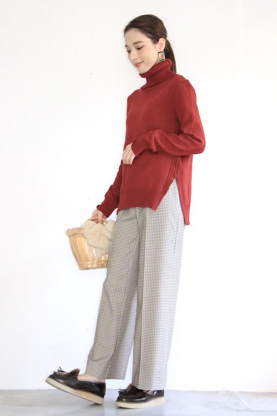 Lana organic cotton red turtle knit