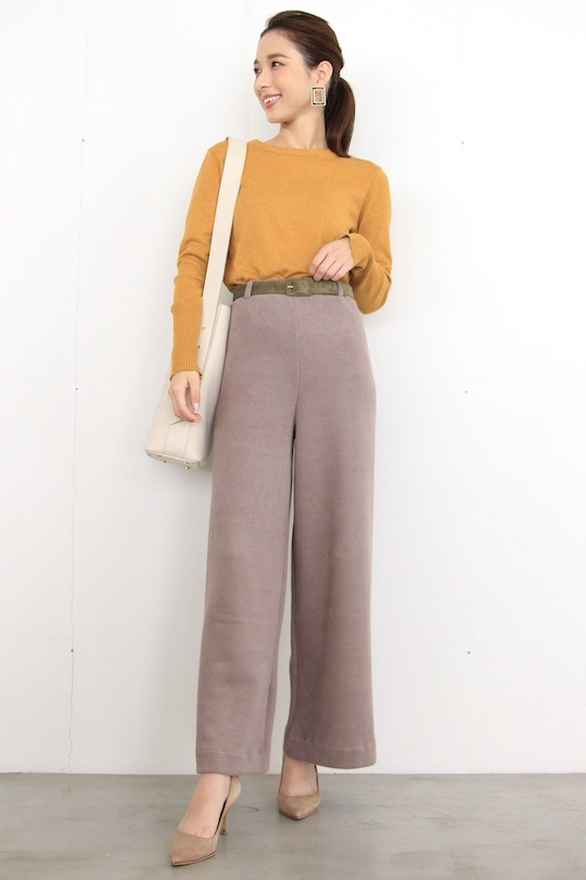 LaLaLei knit wide pts MOCA