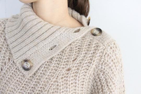 Leon&Harper asymmetry turtle beige knit