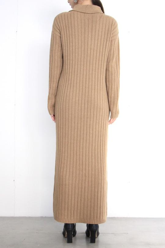 RITA ROW shirt design camel lib knit dress