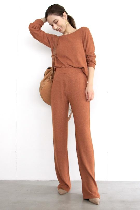 Simple orange knit pts