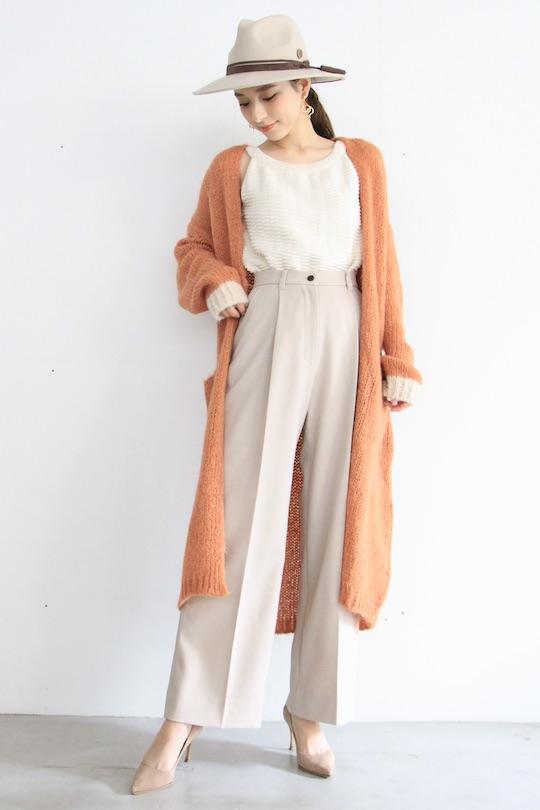 Simple orange crochet gown