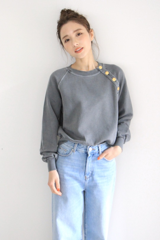 Leon&Harper gray sweat TOPS